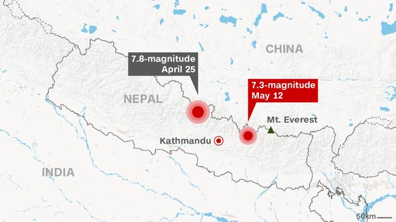 尼泊爾地震一覽圖