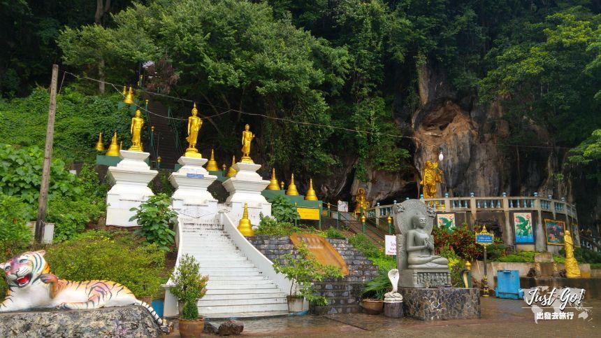 [泰國] 喀比•虎窟寺(Tiger Cave Temple)野猴與1260階爬山遠眺市景