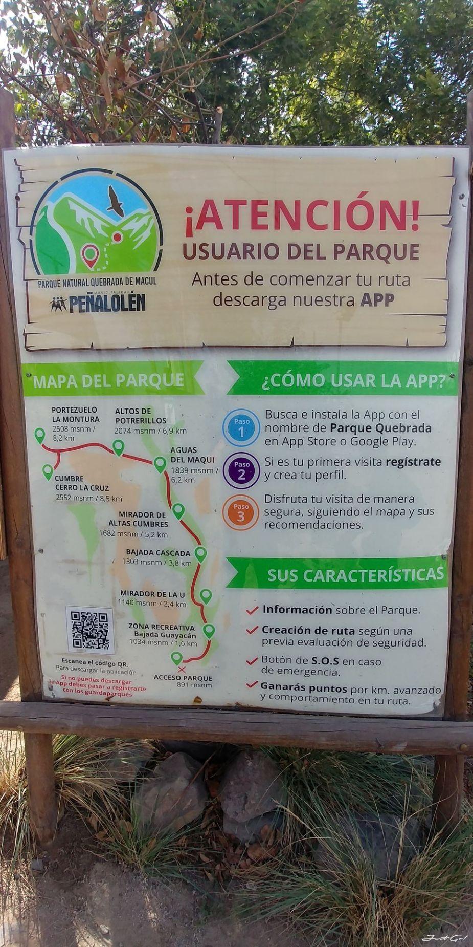 智利 - 聖地牙哥旅遊·自助探訪瀑布、俯瞰市景熱門登山健行路線04_