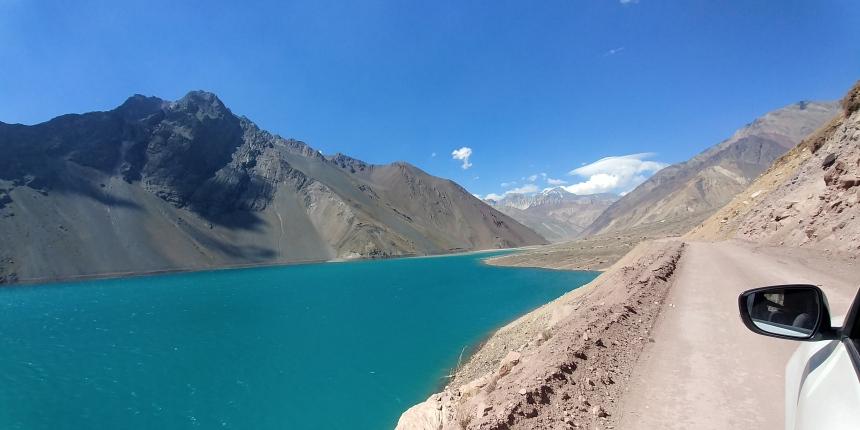 智利 - 首都聖地牙哥近郊·安地斯山脈秘境景點冰川水庫Embalse el Yeso02