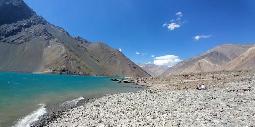 智利 - 首都聖地牙哥近郊·安地斯山脈秘境景點冰川水庫Embalse el Yeso05