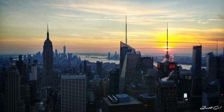 美國 - 紐約曼哈頓3大日落夜景拍攝景點-洛克菲勒、帝國大廈、自由女神08_