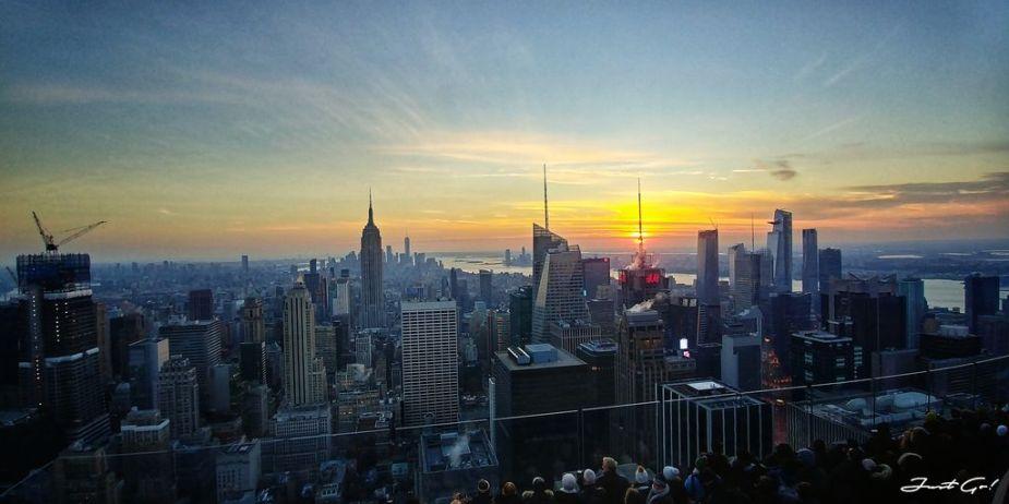 美國 - 紐約曼哈頓3大日落夜景拍攝景點-洛克菲勒、帝國大廈、自由女神09_