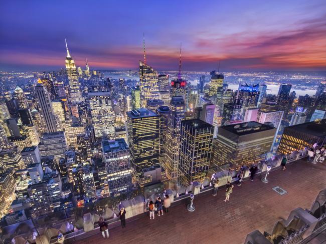 美國 - 紐約曼哈頓3大日落夜景拍攝景點-洛克菲勒、帝國大廈、自由女神10