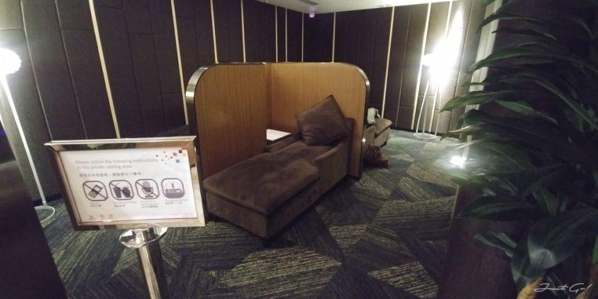 香港 - 環亞、遨堂、紫荊堂機場貴賓室休息睡覺、餐點服務比較05_