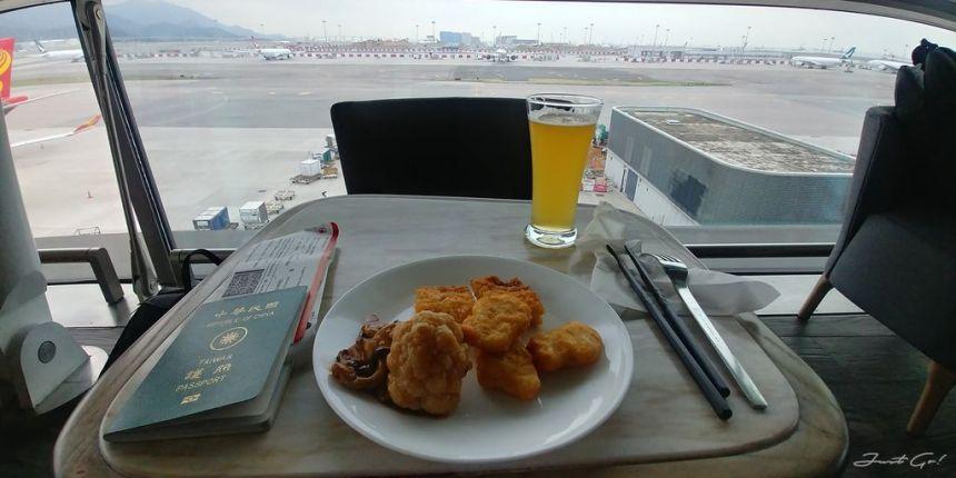香港 - 環亞、遨堂、紫荊堂機場貴賓室休息睡覺、餐點服務比較18_