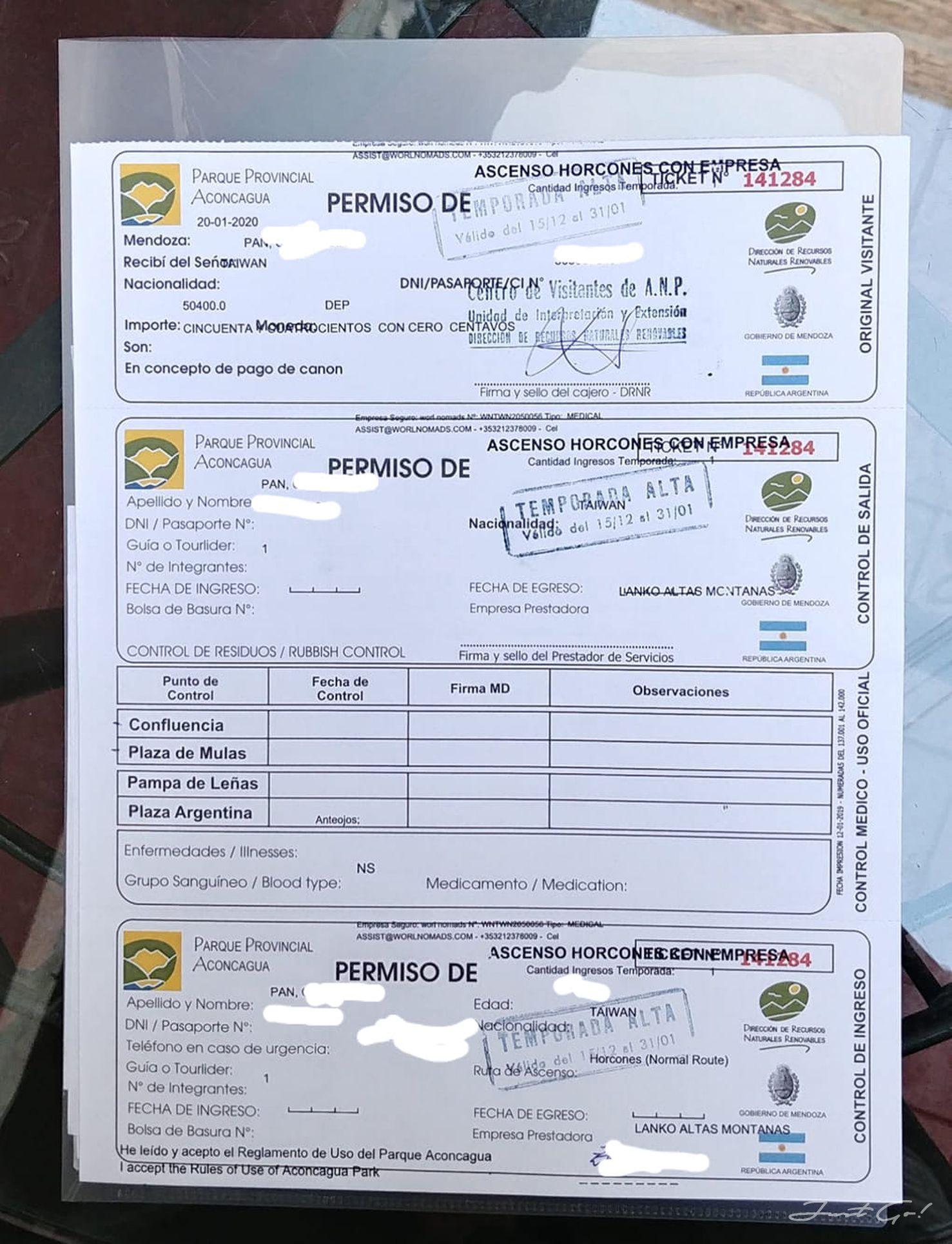 阿根廷 - 七頂峰·南美最高·阿空加瓜準備-行程、花費、保險、裝備及天氣4